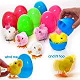 #10: Prextex Large Toy Filled Easter Eggs Filled with Wind-Up Rabbits and Chics