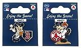 MLB Boston Red Sox Disney Mickey Collectible Trading Pin Set