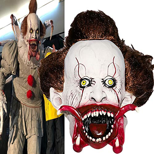Scary Evil Clown Mask,Halloween Costume Party Mask for
