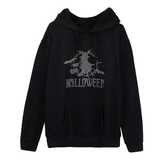 Blusas de Mujer de Moda, BBestseller Sudadera con Bolsillo de Halloween Camiseta Mujer Otoño e Invierno Manga Larga Tops Superior de Vestir: Amazon.es: Ropa ...