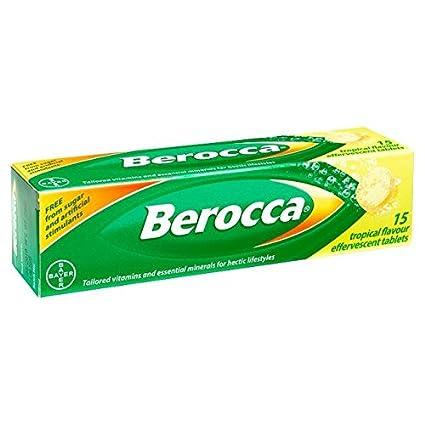 berocca ducha pastillas Tropical 15 Pro Paquete