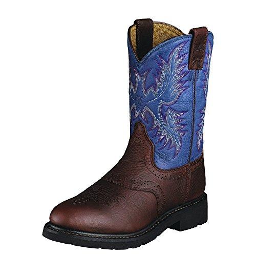 Ariat Men's Sierra Saddle Work Boot, Redwood/ Indigo Blue, 1