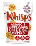Whisps Asiago & Pepper Jack Cheese Crisps | Keto