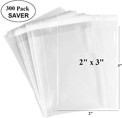 400pcs thicken clear plastic bag Packaging Poly Self Adhesive jewelry bags 6x9cm