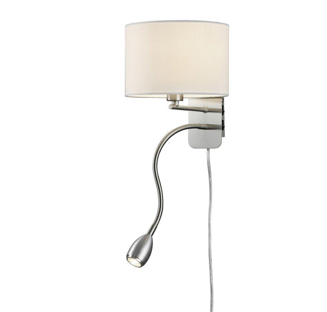 Arnsberg Hotel Matte Nickel Wall Lamp