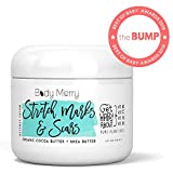 Body Merry Stretch Marks & Scars Defense Cream- Daily Moisturizer w Organic Cocoa Butter + Shea + Plant Oils + Vitamins to Prevent, Reduce and Fade Away Old or New Scars - Best for Pregnancy, Men/Bodybuilders