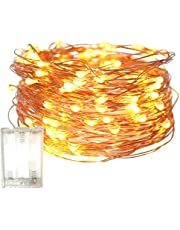 Fairy Christmas Lights Battery Operated, 10M/32.8ft/100 LED String Light, Waterproof 3XAA Battery Case, Indoor Outdoor Lights for Xmas Tree Wedding,Party Events Garden Spring Decoration (Warm White)