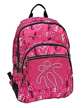 Totto MA04ECO002-1410N-6PJ - Mochila escolar con refuerzo crayola, color rosa: Amazon.es: Equipaje