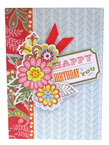 Anna Griffin Prints - Anna Griffin Happy Birthday Floral Layers with Mixed Print