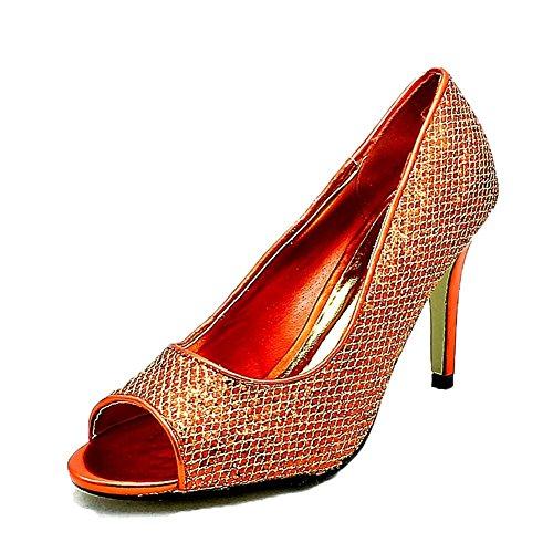 Red Glittery heel Ladies peep toe shoes high party q7Sq0xwAB