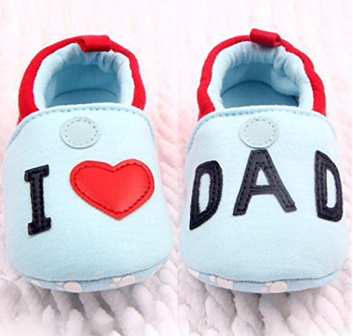 S6–Patucos bebé I Love dad- Ti Amo papà TG.12(4–8meses)
