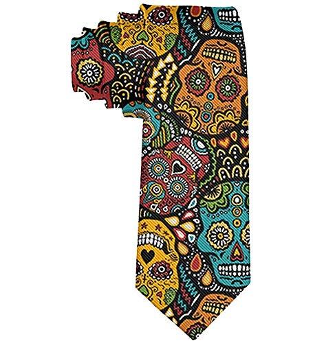 Corbata de calaveras mexicanas de azúcar para hombres, ideal para ...