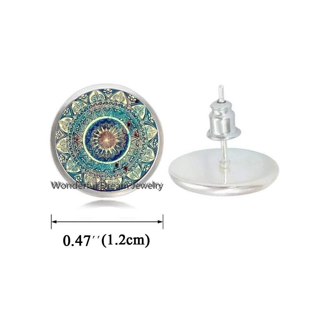 Waozshangu- Pendientes de Cristal con Forma de cúpula de Chakra ...