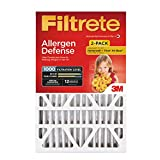 Filtrete 20x25x4, AC Furnace Air Filter, MPR 1000 DP, Micro Allergen Defense Deep Pleat, 2-Pack