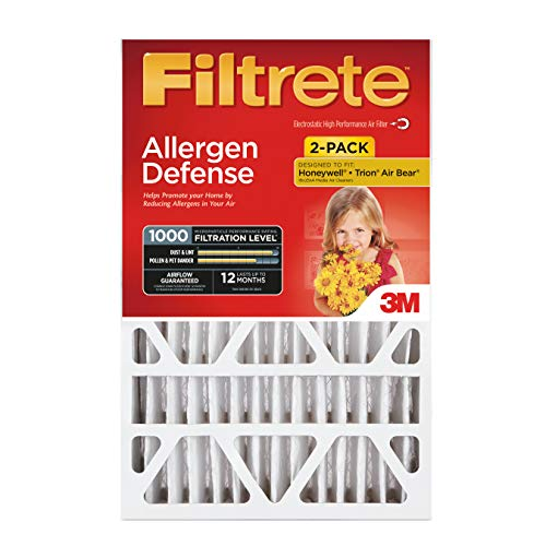 Filtrete 20x20x4, AC Furnace Air Filter, MPR 1000 DP, Micro Allergen Defense Deep Pleat, 2-Pack