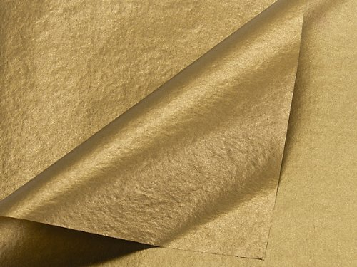 Metallic Gold Tissue Paper 20 Inch X 30 Inch - 48 Sheets