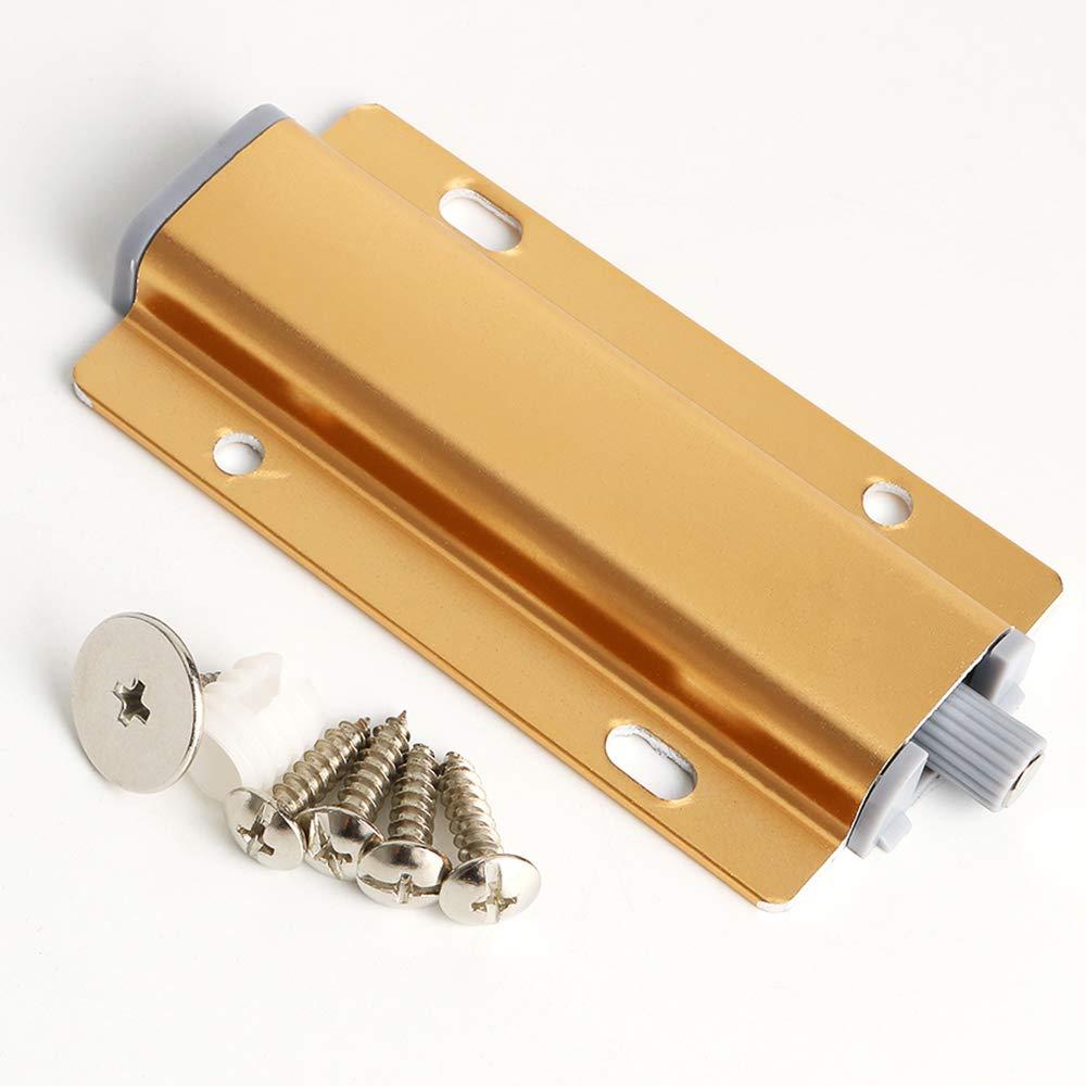 Schraub-Installation Golden EFTQ100G-2P 2 PCs Sayayo T/ürr/ückprallger/ät T/ür Saugnapf Single Touch Catch Stop Selbstausrichten Magnet-Push-to-Open System f/ür Schrankschublade