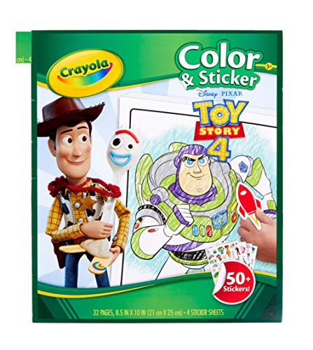 Crayola Toy Story 4 Coloring Pages & Stickers, Gift for Kids, Age 3, 4, 5, 6, 7