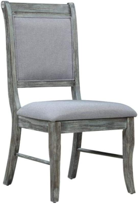 Coaster Home Furnishings Darcy Upholstered Padded Grey and Weathered Ash (Set of 2) Side Chair