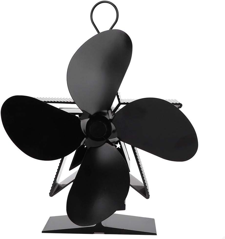 Ventilador de 4 cuchillas con ventilador de estufa para chimenea/leña/ventilador de chimenea ecológico