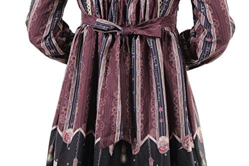 8ef86769925c1 Hachigo (ハチゴウ) アリス 風 ゴスロリ ドレス ワンピース スカート フリル レース リボン ゴシック ロリータ Lolita