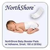NorthShore Disposable Baby Diaper Doubler w/ Adhesive, Small, Case/180 (6/30s)