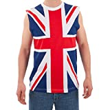 british tank - Largemouth Men's British Flag Tank Multicolor (Small)