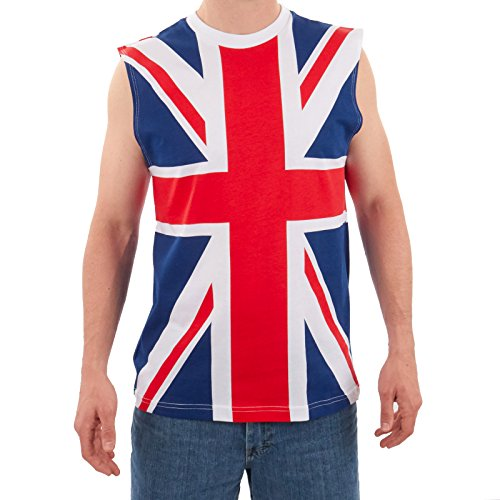Largemouth Men's British Flag Tank Multicolor (XXL)