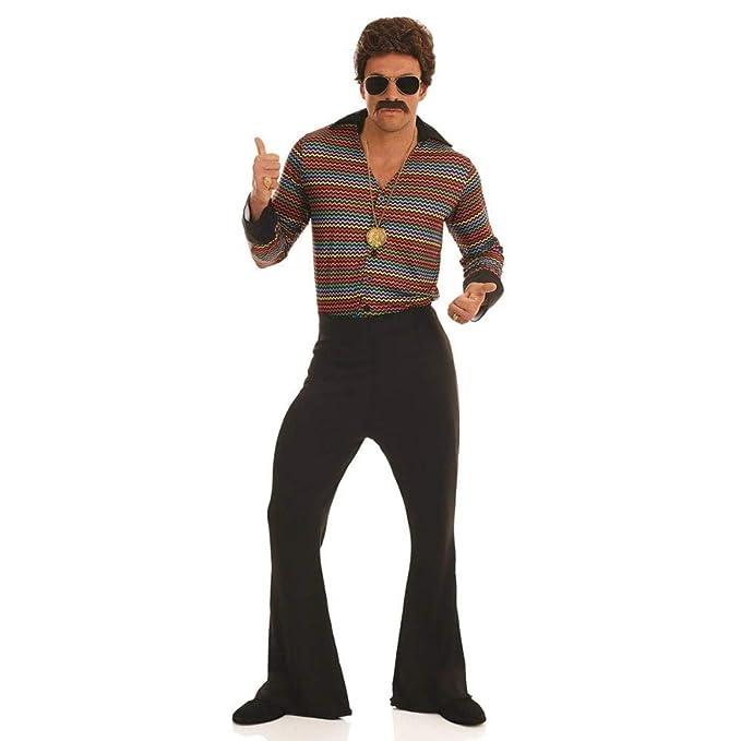 Uomo Anni 70.Da Uomo Anni 70 Disco Fever 70 Flares Retro Costume M Xl
