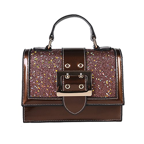 Straps Bag Spring Shoulder Shoulder Single Bag Small Brown Black Width Incense Sequined Woman Side Feminine 7wCWqYxctg