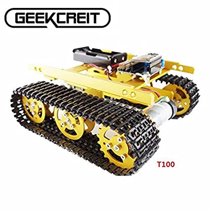 Amazon.com: Doradus Geekcreit DIY T100 NodeMCU Aluminum Alloy Tank Track Caterpillar Chassis Smart Robot Kit: Car Electronics