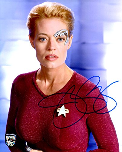 Jeri Ryan Signed / Autographed Star Trek Voyager 8x10 Glossy Photo As Seven of Nine , Includes Official Pix Certification COA and Cataloged Number. Entertainment Autograph Original.