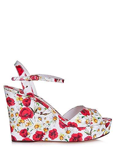 cuñas imprimirta Dolce amp;Gabbana nuevo en Multicolor ke pintar piel plataformas zapatos mujer Rqgqxw4E