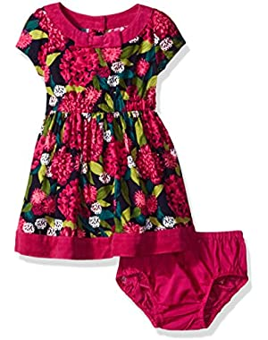 Baby Girls' Short Sleeve Floral Dress