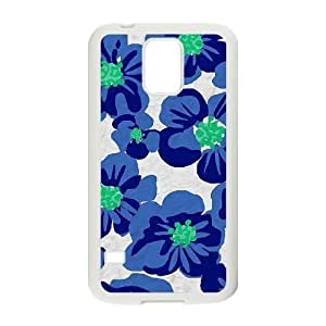 Blue Flowers Unique Design Cover Case for SamSung Galaxy S5 I9600,custom case cover ygtg611548