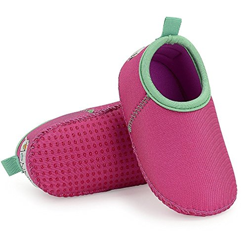 (Toddler Aqua Water Swim Shoes - Perfect Swim Shoes for The Beach - Snug Fit with a Comfortable Soft Sole (9, Watermelon))