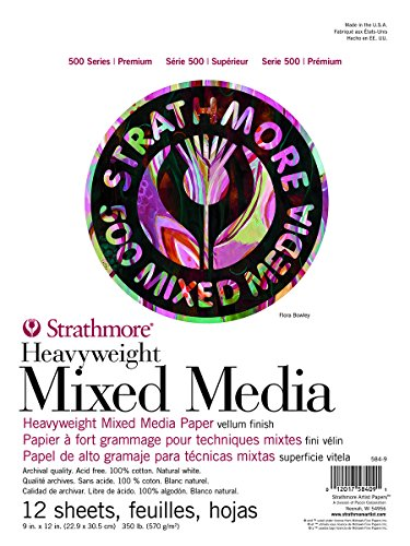 - Strathmore ((584-9 500 Series Heavyweight Mixed Media, 9