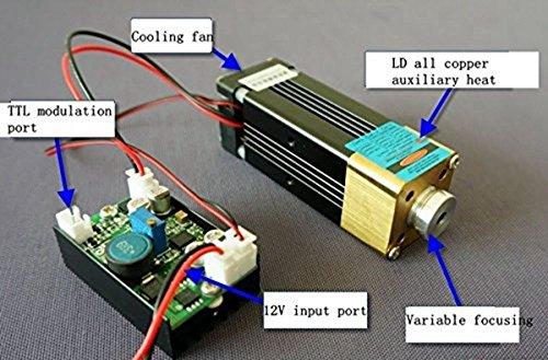 3.5W Industry Laser 445nm/447nm/450nm 3500mW Blue Laser Dot Module Diode NDB7A75 w/ TTL0-20kHz & Fan Cooling & Long Time Working