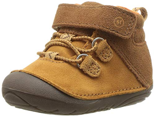 Stride Rite Blake Baby Boy's High-Top Suede Sneaker Ankle Boot, tan, 3 W US Infant