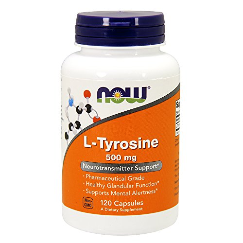 L-Tyrosine 500 mg 120 Capsules (Pack of 2)