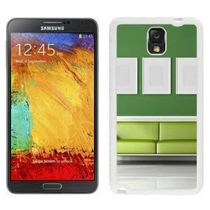 NEW Unique Custom Designed Samsung Galaxy Note 3 N900A N900V N900P N900T Phone Case With Light Green Sofa Room_White Phone Case Kimberly Kurzendoerfer