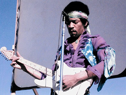 Jimi Hendrix Music Legend 8 X 10 Reprint Photo - Beautiful !