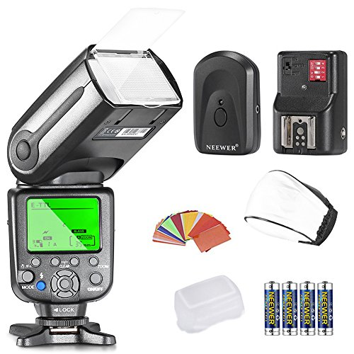 Neewer NW-565 EXC E-TTL Slave Speedlite Kit for Canon 5D II 7D, 30D, 40D, 50D,EOS 300D 350D 400D 1000D 500D 550D 600D 700D 100D 1100D/Rebel XT Xti XS T1i T2i T3i T5i SL1 T3 and Other Canon Model
