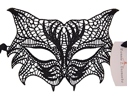 Masquerade Wolf Mask (Bonnie Z. Leonardo Lace Masquerade Mask Masquerade Masks for Women Wolf Mask-1)