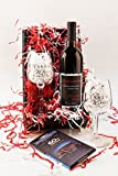 Romantic Evening Cabernet Red Wine and Chocolate Gift Set, 1 x 750 mL