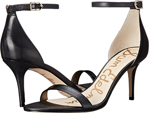 Sam Edelman Women's Patti Dress Sandal, Black Leather, 9.5 Wide US ()