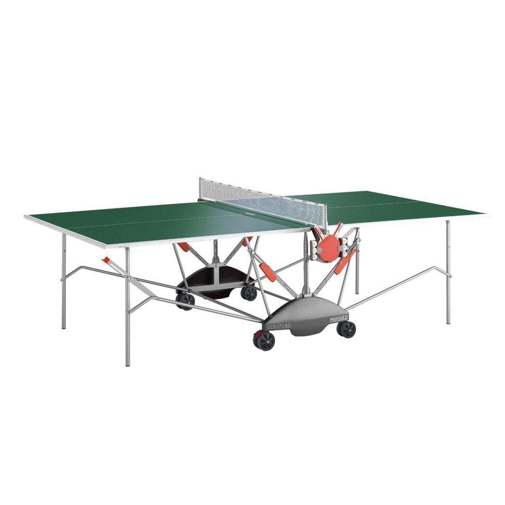 Kettler Match 5.0 Indoor/Outdoor Table Tennis Table, Green Top
