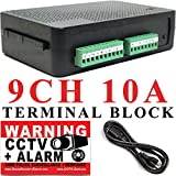 USG 9 Channel CCTV Power Supply 12V DC 10A PPTC Auto Reset Fuses Screw or Desktop Mount For Bare CCTV Cables 2-Wire Terminal Block