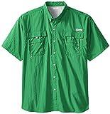 Cheap Columbia Sportswear Men's Big Big and Tall Bahama II Short Sleeve Shirt, 2X, Emerald City