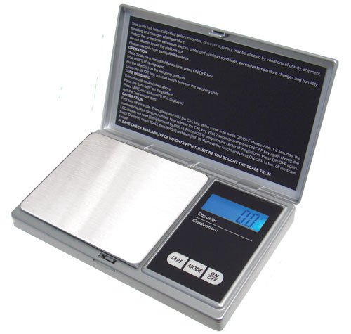 (American Weigh Scales Signature Series Digital Precision Pocket Scale, Silver 1000 x 0.1G)